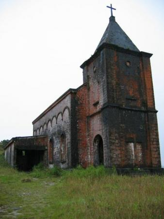Abandoned Church in Bokor.